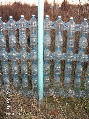 Забор из пластиковой бутылки своими руками